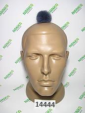 Меховой помпон Норка, Грифельный, 5 см, 14444, фото 2