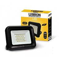 LED Прожектор LEBRON LF, 30W, 6200K, 2400LM, Угол 120 °