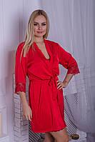 Комплект для дома халат + ночная рубашка К14н Красный