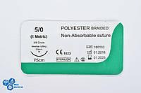 Поліестер USP 5/0 (EP 1) з звор. ріж. голкою 20мм 3/8 кола