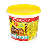 Вогнебіозахист для деревини СТРАЖ-2,(порошковий концентрат) відро 0,75кг.