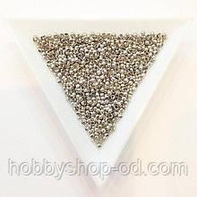 Бусины  Кримп 2 мм (зажимные) сталь (вес 5 г)