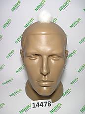 Меховой помпон Норка, Кремовый, 4 см, 14478, фото 2