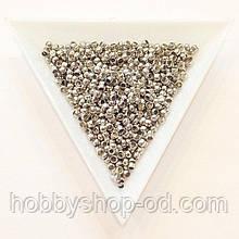 Бусины  Кримп 2,5 мм (зажимные) сталь (вес 5г)