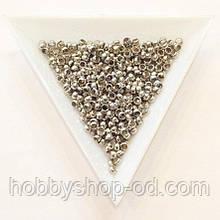 Бусины  Кримп 3 мм (зажимные) сталь (вес 6 г)