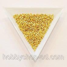 Бусины  Кримп 2 мм (зажимные) золото (вес 5г)