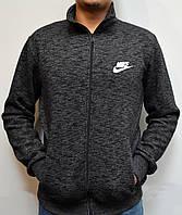 Толстовка Nike (Найк) / Остались размеры: 44,46 / Мужская кофта на молнии из трикотажа - черная