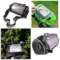 Велосумка на руль под смартфон,велосипедная сумка-органайзер на руль велосипеда для телефона, фото 1
