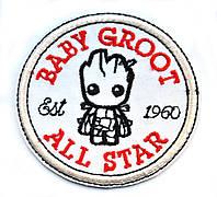Нашивка патч BABY GROOT
