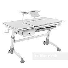 Дитячий стіл Amare Grey з висувним ящиком + полиця для книг SS16 Grey