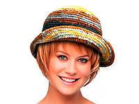 Шапка, Шапка-шляпка, женская вязаная шапка, модная стильная шапка, фото 1
