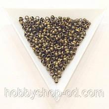 Бусины  Кримп 3 мм (зажимные) бронза (вес 6г)