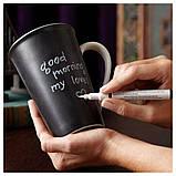 Керамическая чашка Starbucks Memo Старбакс Мемо с ложкой и маркером , фото 2