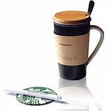 Керамическая чашка Starbucks Memo Старбакс Мемо с ложкой и маркером , фото 3