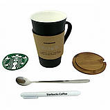 Керамическая чашка Starbucks Memo Старбакс Мемо с ложкой и маркером , фото 4