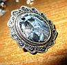 """Серебряное кольцо с петерситом """"Синее пламя"""", размер 18,5 от Студии  www.LadyStyle.Biz"""