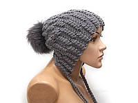 Шапка, женская вязаная шапка, пом пом шапка, HandMade шапка, модная стильная шапка, фото 1