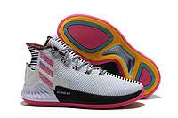 Adidas D Rose 9 White/Pink мужские кроссовки
