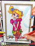 Картины-раскраски карандашами 'Девочка' (PBN-01-10), фото 2