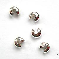 Кримп Ковер (бусина обжимная для маскировки узлов, стоперов) 4 мм сталь (вес 5 г)