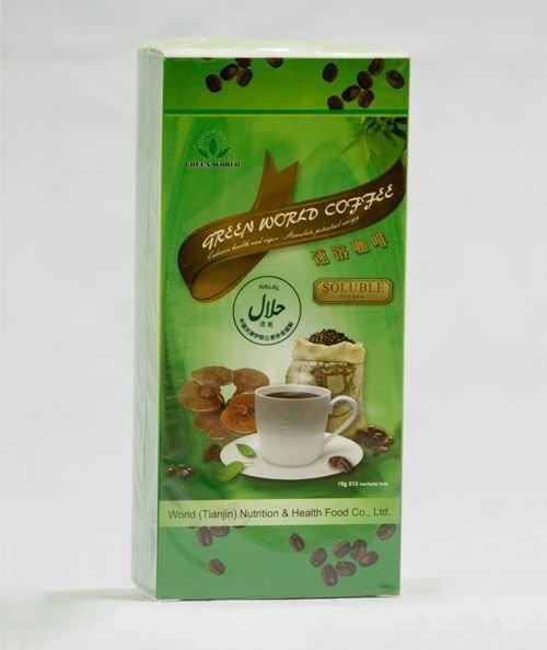 """Кофейный напиток с Рейши """"Green World"""" Грин Ворлд, 12 пакетиков по 15 гр."""