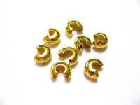 Кримп Ковер (бусина обжимная для маскировки узлов, стоперов) 4 мм золото (вес 5 г)