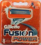 Сменные кассеты для бритья Gillette Fusion Power (8шт./уп.)