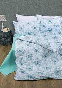 Постельное белье Lotus Premium - Anna бирюзовый семейное