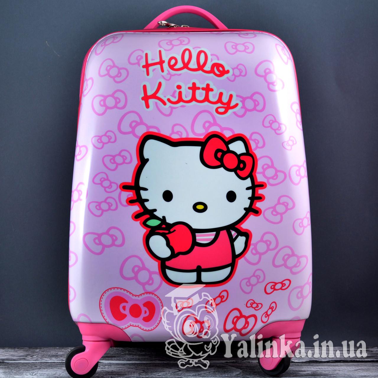8cf43b3cceeb Чемодан дорожный для детейна 4-х колесах Hello Kitty HK-701 - Ялинка в