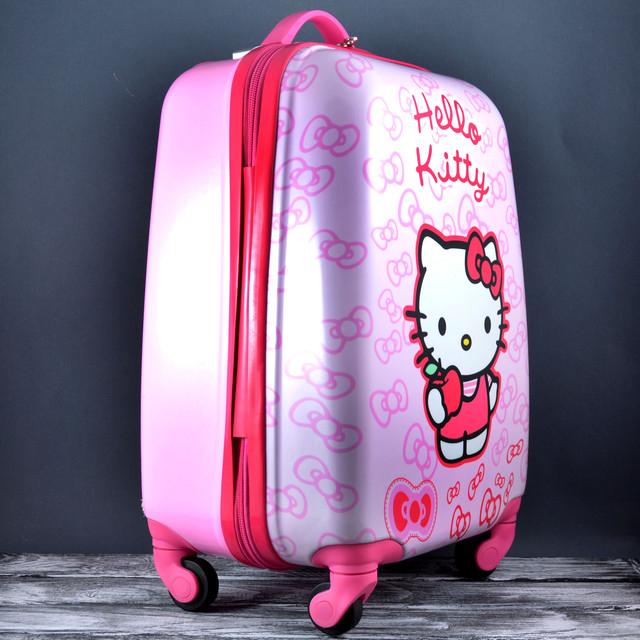 80b91469212a Чемодан дорожный для детейна 4-х колесах Hello Kitty HK-701, цена ...