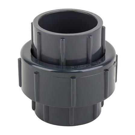 Муфта ПВХ ERA разборная клей-клей, диаметр 20 мм, фото 2