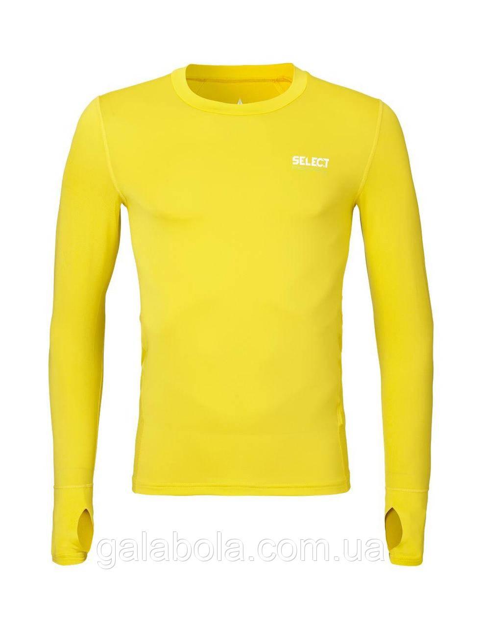Термофутболка с длинными рукавами SELECT (желтая)