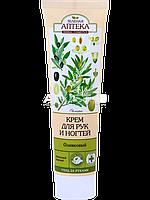 Крем для рук и ногтей питательный и защитный (Оливковый) - Зеленая Аптека 100мл.