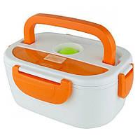 Термо Ланч бокс с подогревом ELB electric lunch box Оранжевый