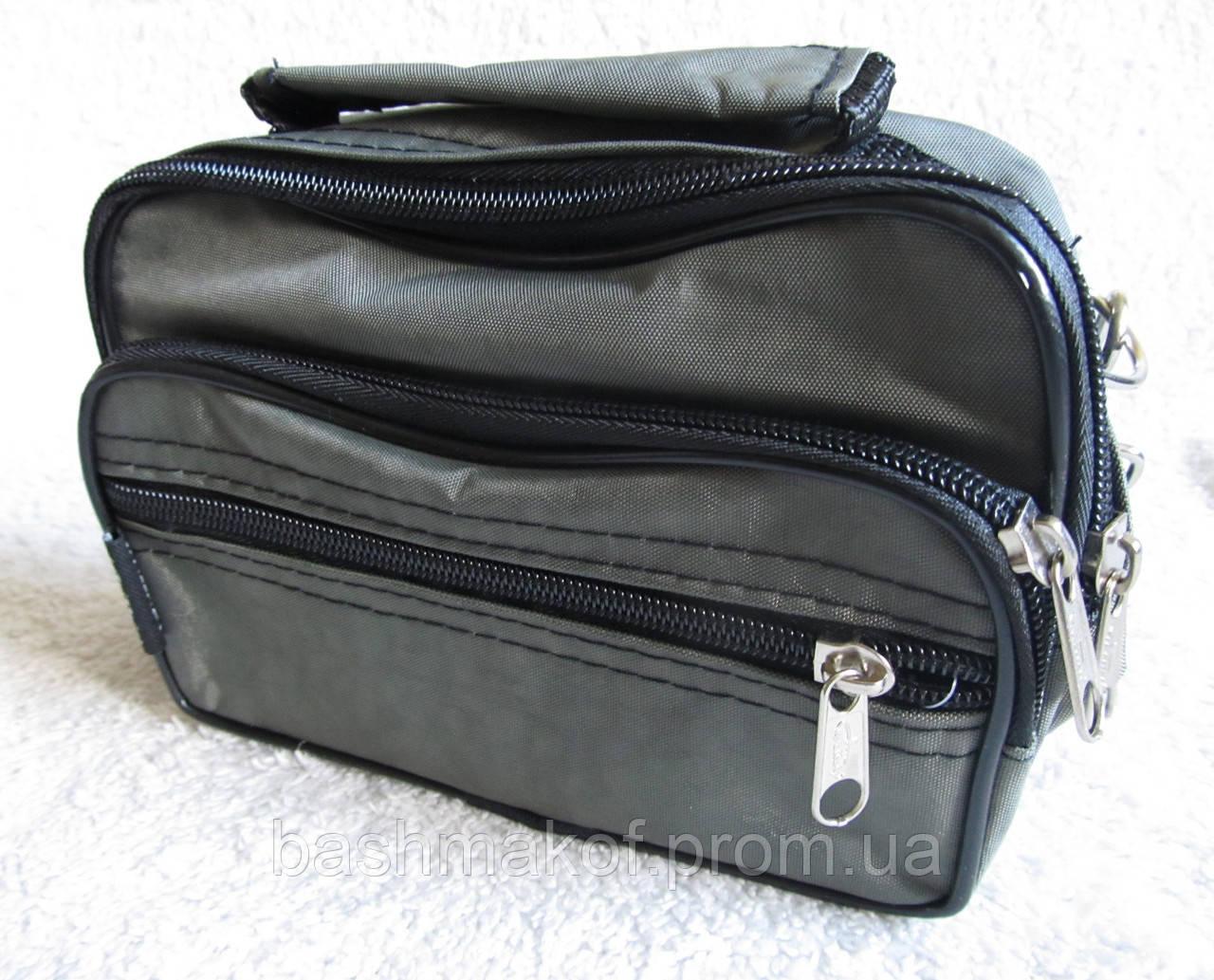 bd595372b576 Мужская сумка Wallaby 2663 хаки барсетка через плечо на пояс 19х14х7см