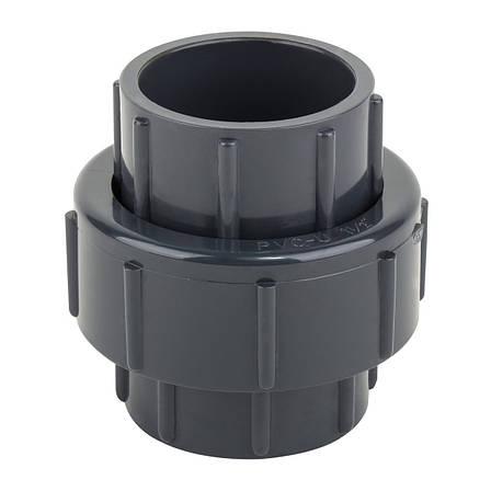 Муфта ПВХ ERA разборная клей-клей, диаметр 75 мм., фото 2