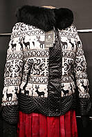 Куртки Пальто  Парки Пуховики Куртка с оленями