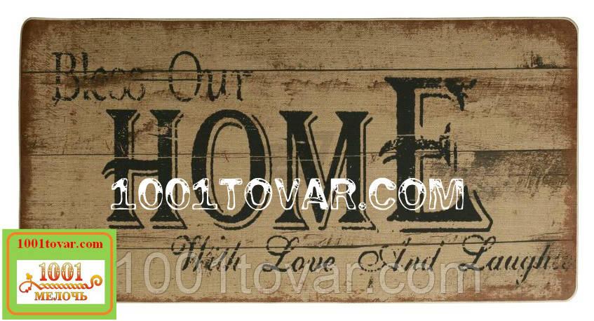 """Килимок кухонний з льону на гумовій основі """"Home"""" 140х70х0,5 див."""