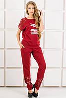 Спортивный костюм Канель (бордовый)
