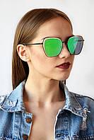 Cолнцезащитные женские очки зеленые (99029)