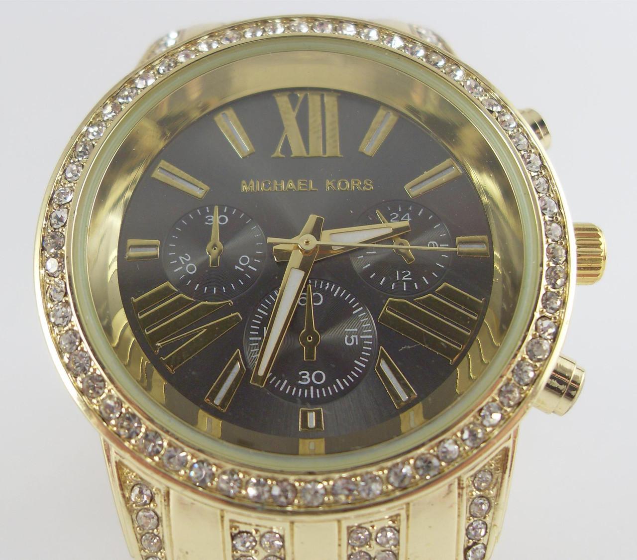 95e2796e8348 Часы Michael Kors MK-632 женские золото стразы недорого. Цена со склада.