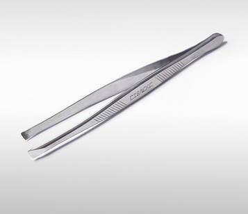 Пінцет для брів з прямими робочими крайками Сталекс 10/1-ТЗ (T3-10-01)