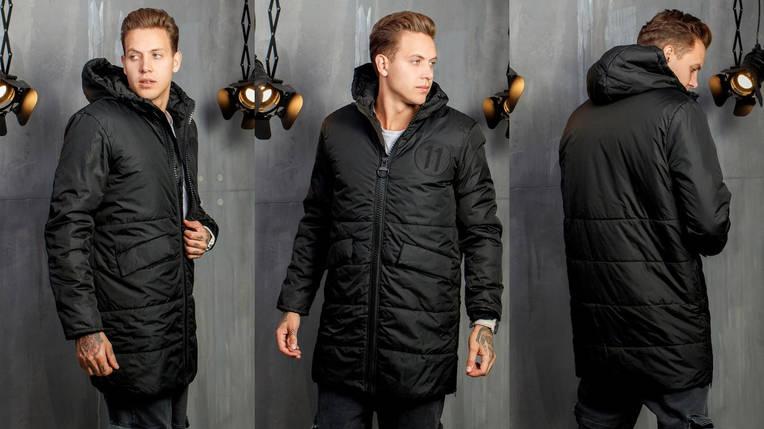 Зимнее пальто мужское на синтепоне и меху, фото 2