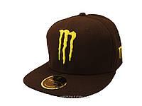 Черная кепка Monster с объемной 3D надписью