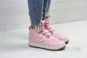 Кроссовки Nike Lunar Force 1 Duckboot розовые (зима). Код 6598, фото 2
