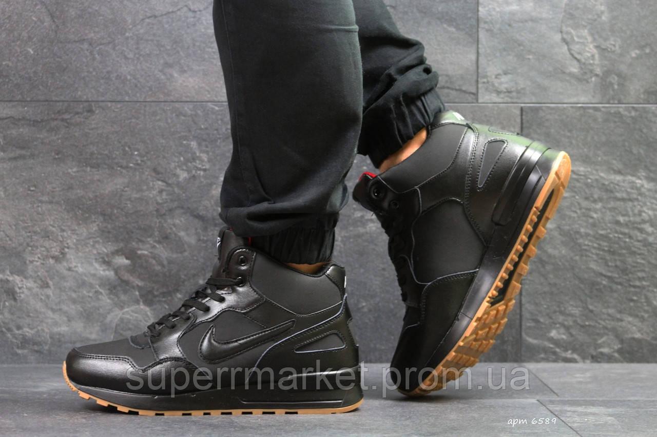 Кроссовки Nike черные  зима , код6589