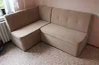 Кухонный угловой диван в маленькую кухню (Бежевый)
