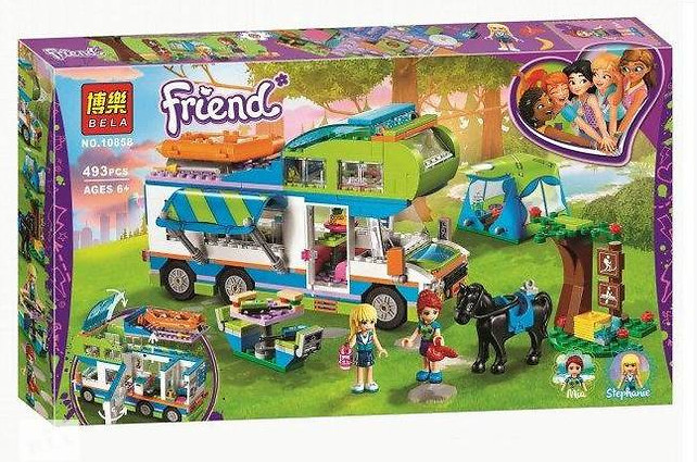 "Конструктор Bela 10858 Friends ""Дом на колёсах"" (Аналог Lego Friends 41339), 493 дет"