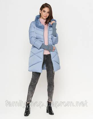 Tiger Force 2108 | Зимняя женская куртка голубая, фото 2