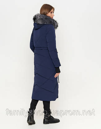 11 Kiro Tokao   Женская зимняя куртка 1808 синяя, фото 2